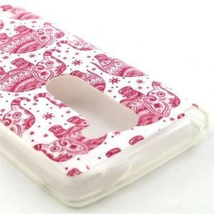Pictu gélový obal pre LG Leon - ružoví sloni - 2