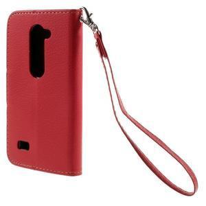 Leaf PU kožené pouzdro na mobil LG Leon - červené - 2