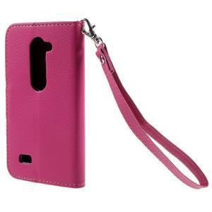 Leaf PU kožené puzdro pre mobil LG Leon - rose - 2