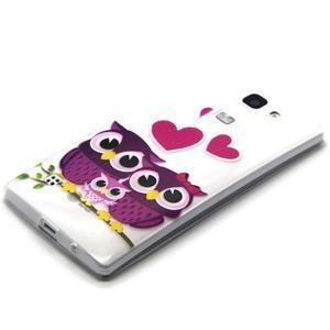 Transparentný gélový obal pre mobil LG Spirit - zamilované malej sovy - 2