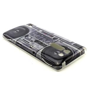 Gélový kryt na mobil LG Spirit - kazeťák - 2