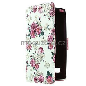 Peňaženkové puzdro pre LG Spirit - ruže - 2