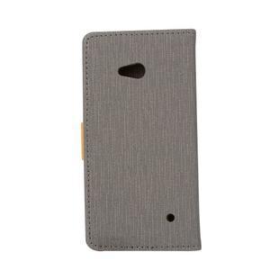 Wally koženkové pouzdro na mobil Microsoft Lumia 640 - šedé - 2