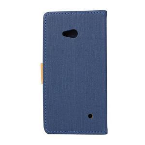 Wally koženkové pouzdro na mobil Microsoft Lumia 640 - tmavěmodré - 2