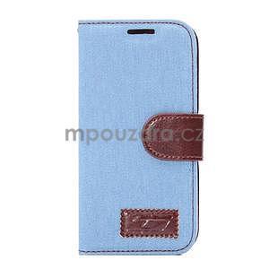 Jeans peňanžekové puzdro pre HTC One Mini 2 - svetlomodre - 2