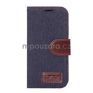 Jeans peňanžekové puzdro pre HTC One Mini 2 - tmavomodre - 2