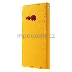 Style peňaženkové puzdro HTC One Mini 2 - žlté - 2