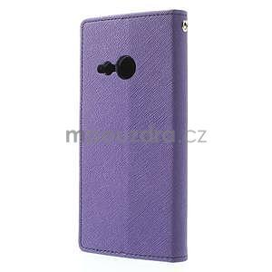 Style peňaženkové puzdro HTC One Mini 2 - fialové - 2