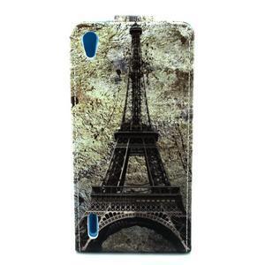 Flipové puzdro na Huawe Ascend P7 - Eiffelova veža - 2