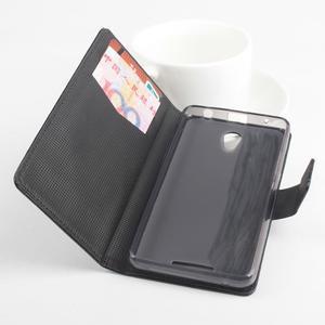 GT peňaženkové puzdro na Lenovo A5000 - čierné - 2