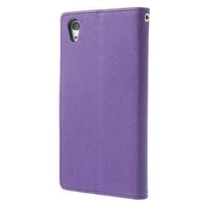 Fancy Peňaženkové puzdro pre Sony Xperia Z2 - fialové - 2