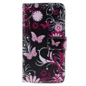 Cross peňaženkové puzdro na Xiaomi Mi4 - kouzelní motýlci - 2