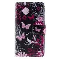 Cross peňaženkové puzdro na Xiaomi Mi4 - kouzelní motýlci - 2/7