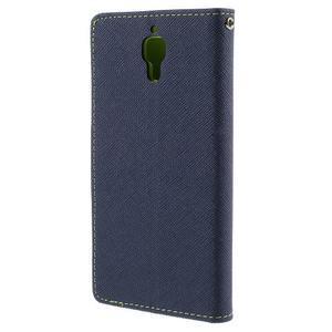 Mr. Fancy peňaženkové puzdro na Xiaomi Mi4 - tmavo modré - 2