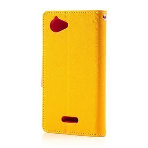 Mr. Fancy peňaženkové puzdro pre Sony Xperia L - žlté - 2