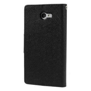 Mr. Goos peňaženkové puzdro na Sony Xperia M2 - čierné - 2