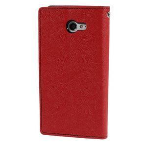 Mr. Goos peňaženkové puzdro na Sony Xperia M2 - červené - 2