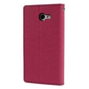 Mr. Goos peňaženkové puzdro na Sony Xperia M2 - rose - 2