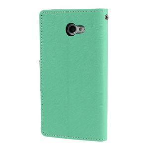 Mr. Goos peňaženkové puzdro pre Sony Xperia M2 - azurové - 2