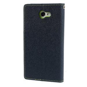 Mr. Goos peňaženkové puzdro pre Sony Xperia M2 - tmavo modré - 2