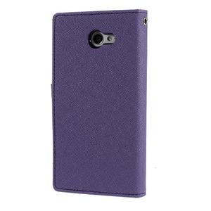 Mr. Goos peňaženkové puzdro na Sony Xperia M2 - fialové - 2