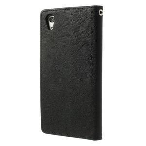 Fancy Peňaženkové puzdro pre Sony Xperia Z2 - čierne - 2