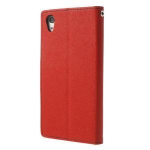 Fancy Peňaženkové puzdro pre Sony Xperia Z2 - červené - 2