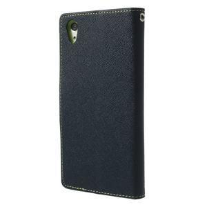 Fancy Peňaženkové puzdro pre Sony Xperia Z2 - tmavomodré - 2