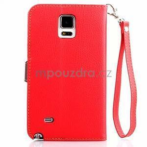 Peňaženkové puzdro s pútkom na Samsung Galaxy Note 4 - červené - 2
