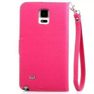 Peňaženkové puzdro s pútkom na Samsung Galaxy Note 4 - rose - 2