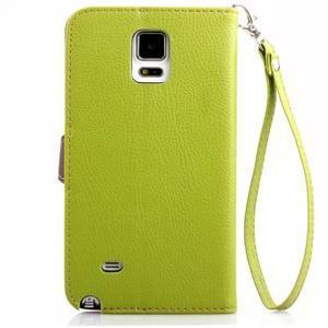 Peňaženkové puzdro s pútkom na Samsung Galaxy Note 4 -  zelené - 2