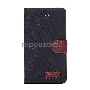 Elegantné peňaženkové puzdro na Samsung Galaxy Note 4 - čierne - 2