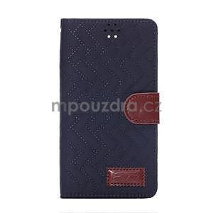 Elegantné peňaženkové puzdro pre Samsung Galaxy Note 4 - tmavomodre - 2