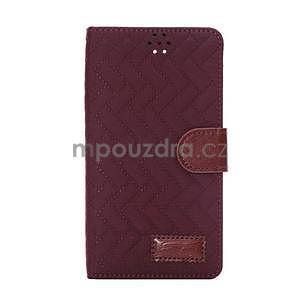 Elegantní penženkové puzdro pre Samsung Galaxy Note 4 - vínové - 2