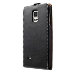 Flipové puzdro pre Samsugn Galaxy Note 4 - čierne - 2