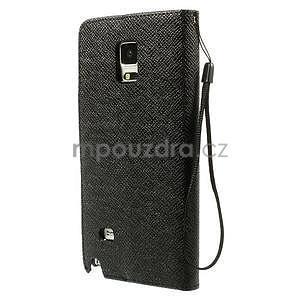Zapínací peneženkové poudzro Samsung Galaxy Note 4 - čierne - 2