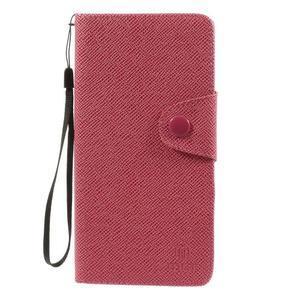 Zapínací peneženkové poudzro Samsung Galaxy Note 4 -rose - 2