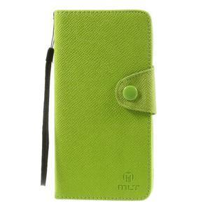 Zapínací peneženkové poudzro Samsung Galaxy Note 4 - zelené - 2