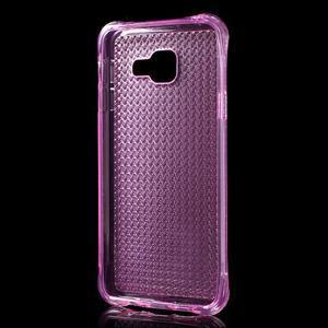 Diamonds gelový obal na Samsung Galaxy A3 (2016) - růžový - 2