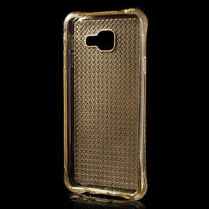 Diamonds gelový obal na Samsung Galaxy A3 (2016) - zlatý - 2