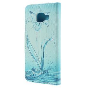 Peněženkové pouzdro na mobil Samsung Galaxy A3 (2016) - vodní květ - 2