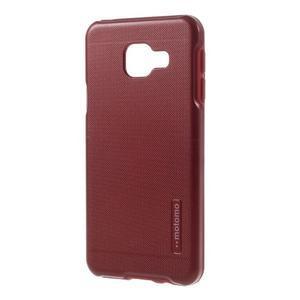 Odolný ochranný obal 2v1 pre mobil Samsung Galaxy A3 (2016) - červený - 2