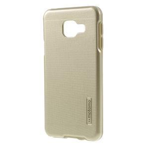 Odolný ochranný obal 2v1 pre mobil Samsung Galaxy A3 (2016) - zlatý - 2