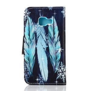 Rich PU kožené pouzdro na mobil Samsung Galaxy A3 (2016) - peříčka - 2