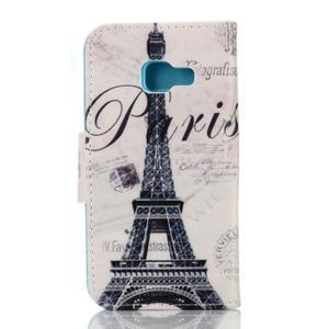 Rich PU kožené pouzdro na mobil Samsung Galaxy A3 (2016) - Eiffelova věž - 2