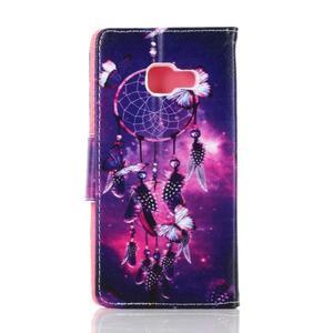 Rich PU kožené pouzdro na mobil Samsung Galaxy A3 (2016) - lapač snů - 2