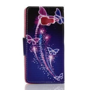 Rich PU kožené puzdro pre mobil Samsung Galaxy A3 (2016) - čarovné motýle - 2