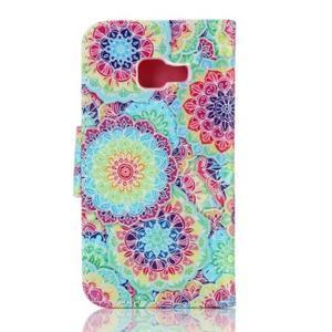 Rich PU kožené puzdro pre mobil Samsung Galaxy A3 (2016) - kvety - 2