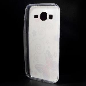 Ultratenký slim obal pre Samsung Galaxy Core Prime - motýlek - 2