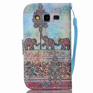 Pictu pouzdro na mobil Samsung Galaxy Core Prime - sloni - 2